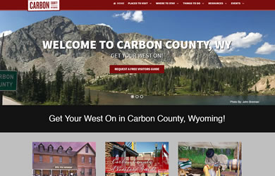 carbon county tourism web site