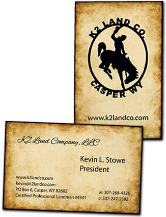 K2 Land Business Card Design