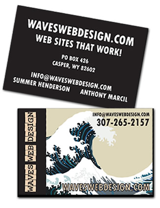 Waves Web Design Business Card Design